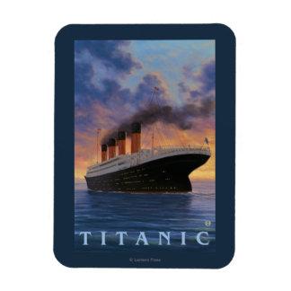 Titanic SceneWhite Star Line Magnet