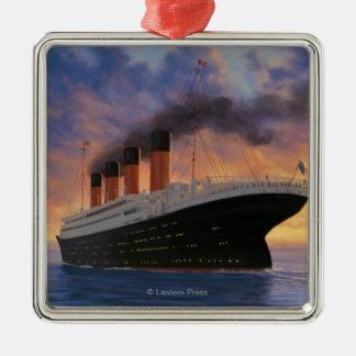 Titanic SceneWhite Star Line Metal Ornament
