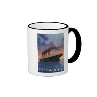 Titanic SceneWhite Star Line Ringer Coffee Mug