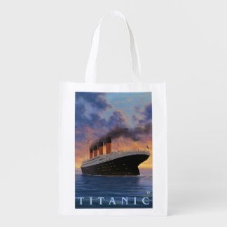 Titanic SceneWhite Star Line Reusable Grocery Bag