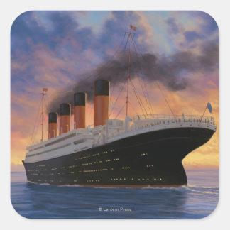 Titanic SceneWhite Star Line Square Sticker