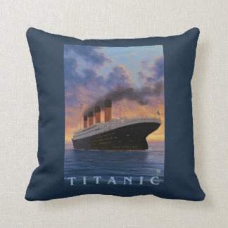 Titanic SceneWhite Star Line Throw Pillow