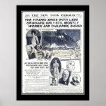 Titanic Series News of Sinking of Titanic Poster