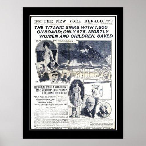 Titanic Series News of Sinking of Titanic Print