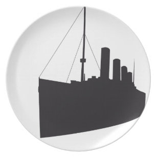 titanic shades dinner plate
