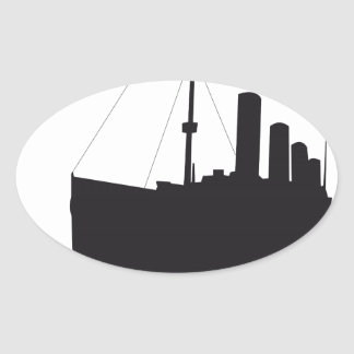 titanic shades oval sticker