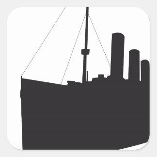 titanic shades square sticker