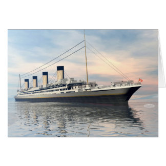 Titanic ship - 3D render Card
