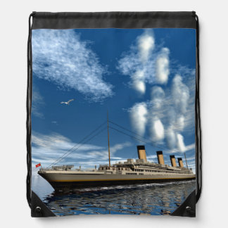 Titanic ship - 3D render Drawstring Backpack
