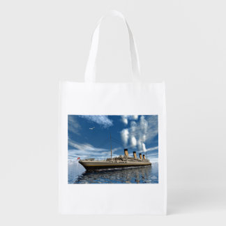 Titanic ship - 3D render.j Reusable Grocery Bag