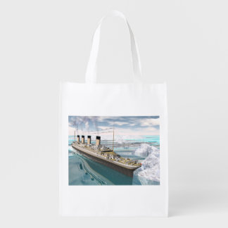 Titanic ship - 3D render Reusable Grocery Bag
