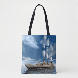 Titanic ship - 3D render Tote Bag