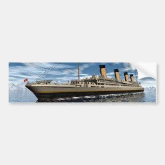Titanic ship bumper sticker