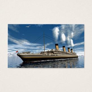 Titanic ship business card