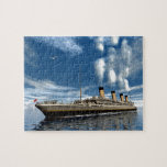 "Titanic ship jigsaw puzzle<br><div class=""desc"">Famous Titanic ship floating among icebergs on the water by cloudy day - 3D render</div>"