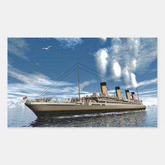 Titanic ship rectangular sticker
