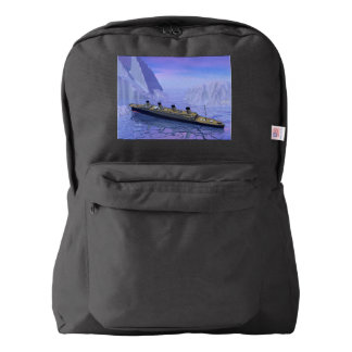 Titanic ship sinking - 3D render American Apparel™ Backpack