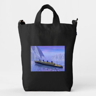 Titanic ship sinking - 3D render Duck Bag