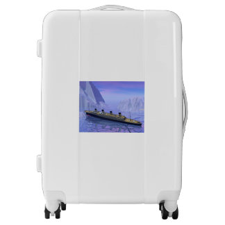 Titanic ship sinking - 3D render Luggage