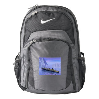 Titanic ship sinking - 3D render Nike Backpack