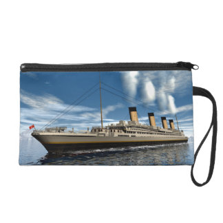 Titanic ship wristlet purse