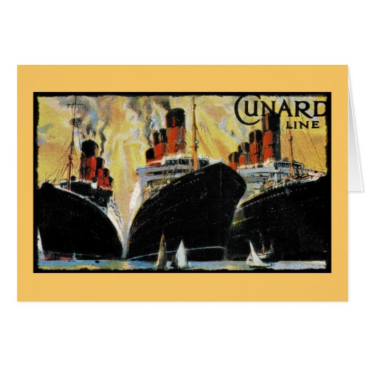 Titanic Ships in Port 1912 Greeting Cards