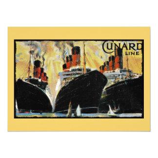 Titanic Ships in Port 1912 5.5x7.5 Paper Invitation Card