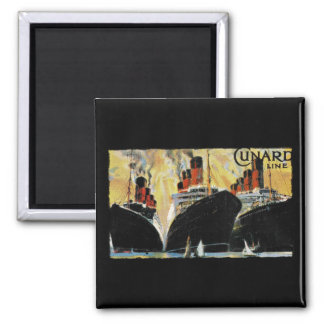 Titanic Ships in Port 1912 Refrigerator Magnets
