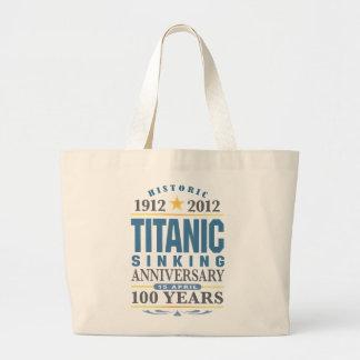 Titanic Sinking 100 Year Anniversary Jumbo Tote Bag