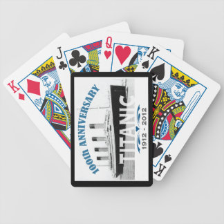 Titanic Sinking 100 Year Anniversary Bicycle Playing Cards