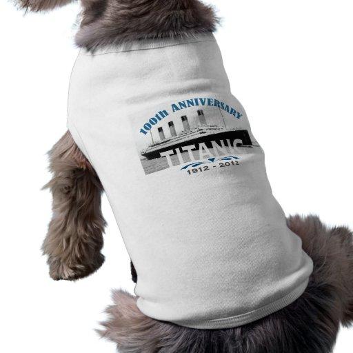 Titanic Sinking 100 Year Anniversary Doggie Tee Shirt