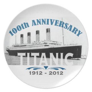Titanic Sinking 100 Year Anniversary Melamine Plate