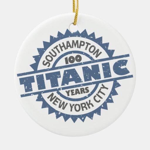 Titanic Sinking 100 Year Anniversary Christmas Tree Ornament