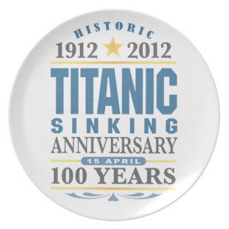 Titanic Sinking 100 Year Anniversary Dinner Plate