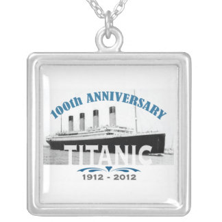Titanic Sinking 100 Year Anniversary Silver Plated Necklace
