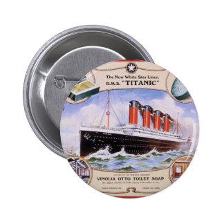 Titanic Soap Label 2 Inch Round Button