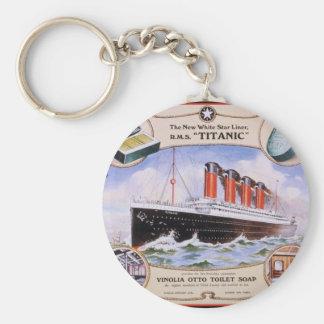 Titanic Soap Label Basic Round Button Keychain