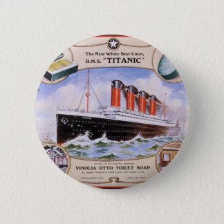 Titanic Soap Label Pinback Button