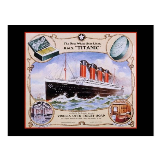 Titanic Soap Label Postcard
