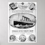 Titanic Soap Vintage Advert Posters
