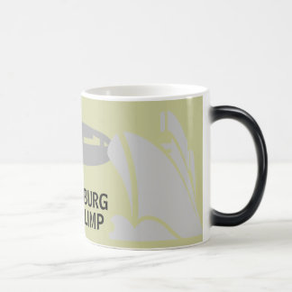 TITANIC STRIKES HINDENBURG - GOES BLIMP MAGIC MUG