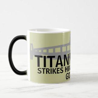 TITANIC STRIKES HINDENBURG - GOES BLIMP MAGIC MUG