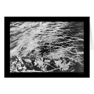 Titanic Survivors in Lifeboat 1912 Greeting Card