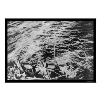 Titanic Survivors in Lifeboat 1912 Posters