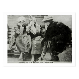 Titanic Survivors on the Carpathia Post Card