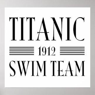 Titanic Swim Team Poster
