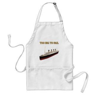 Titanic too big to fail adult apron
