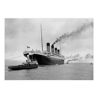 Titanic Tugs Out Poster