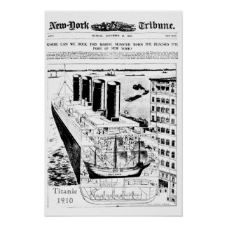 Titanic Vintage 1910 Poster