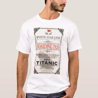 Titanic White Star Line Boarding Pass T-Shirt